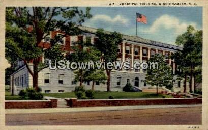 Municipal Building - Winston-Salem, North Carolina NC Postcard