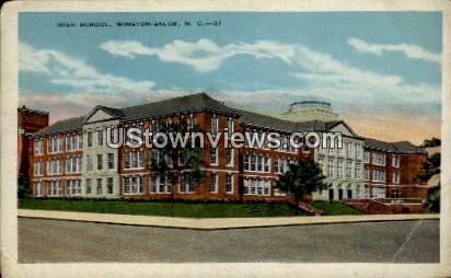 High School - Winston-Salem, North Carolina NC Postcard