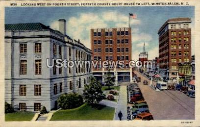 Forsyth County Court House, 4th Street - Winston-Salem, North Carolina NC Postcard