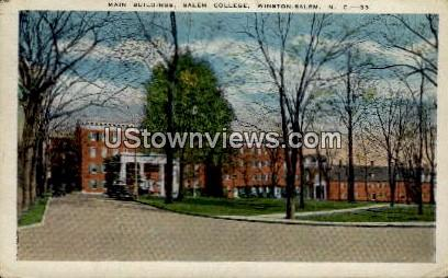 Main Buildings, Salem College - Winston-Salem, North Carolina NC Postcard