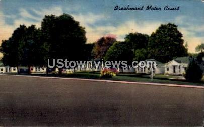 Brookmont Motor Court - Waynesville, North Carolina NC Postcard