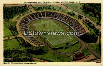 Bowman Gray Memorial Stadium - Winston-Salem, North Carolina NC Postcard