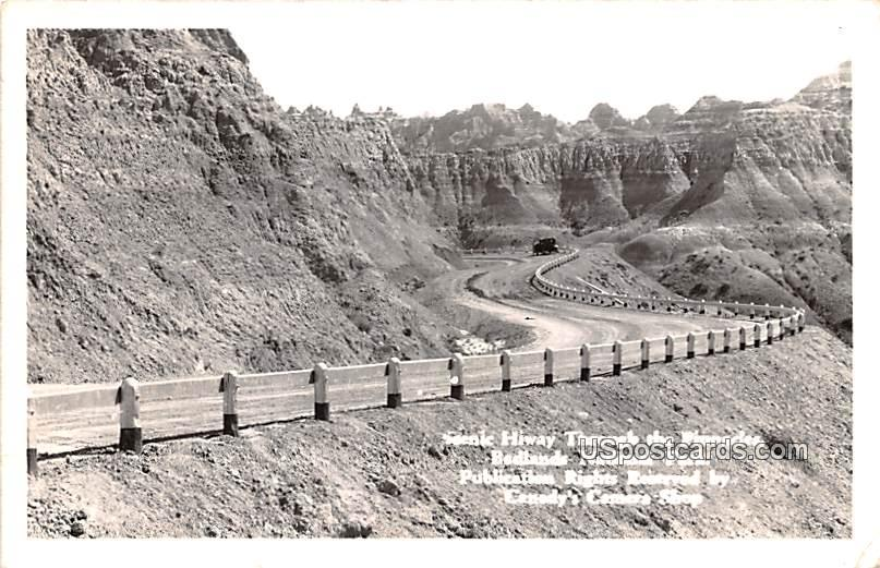 Scenic Hiway Through the Pinnacles - Badlands National Park, North Dakota ND Postcard