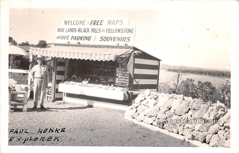Paul Henke Explorer - Black Hills, North Dakota ND Postcard