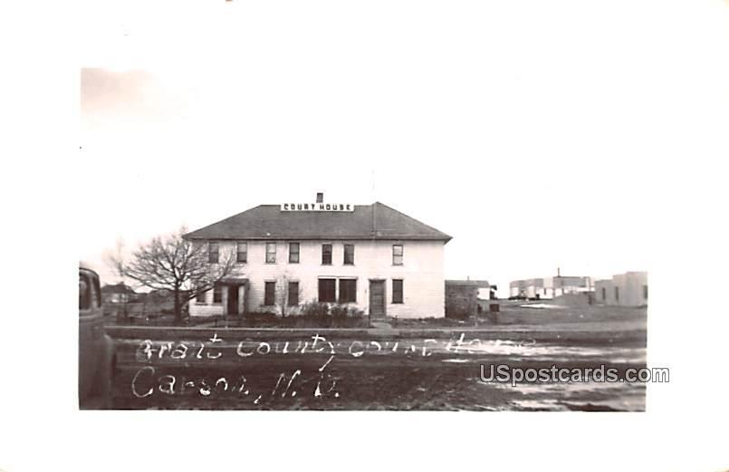 Grant County Court House - Carson, North Dakota ND Postcard