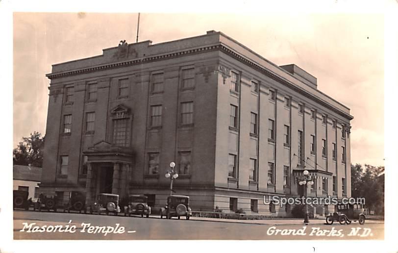 Masonic Temple - Grand Forks, North Dakota ND Postcard