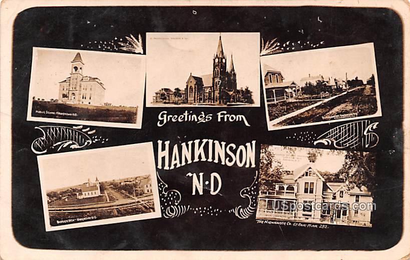 Greetings from - Hankinson, North Dakota ND Postcard