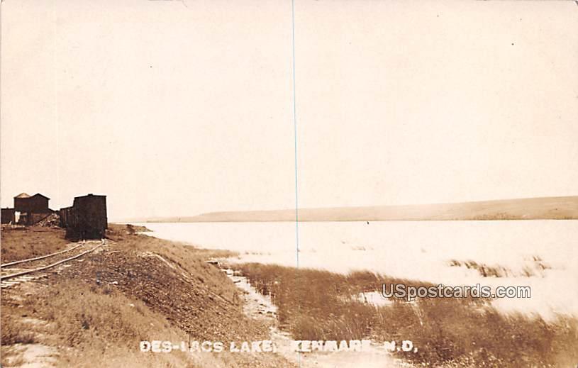 Des Lacs Lake - Kenmare, North Dakota ND Postcard