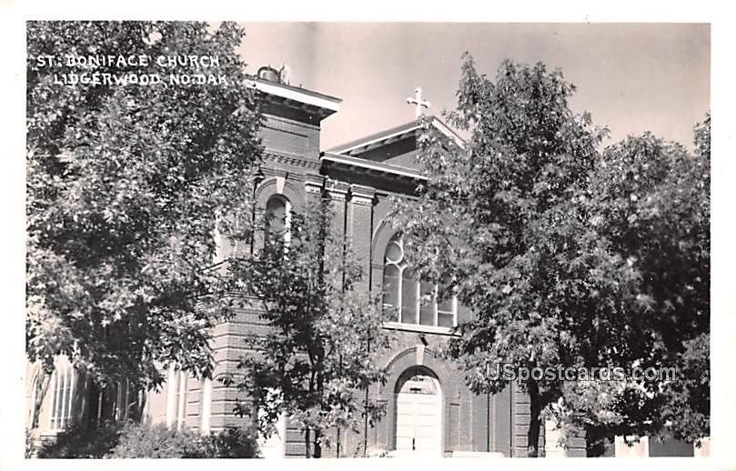 St Boniface Church - Lidgerwood, North Dakota ND Postcard