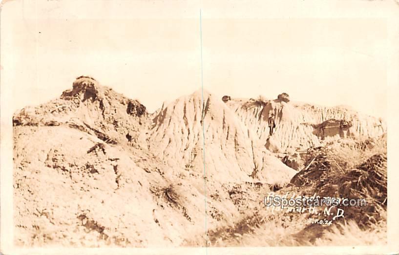 Bad Lands - Marmarth, North Dakota ND Postcard