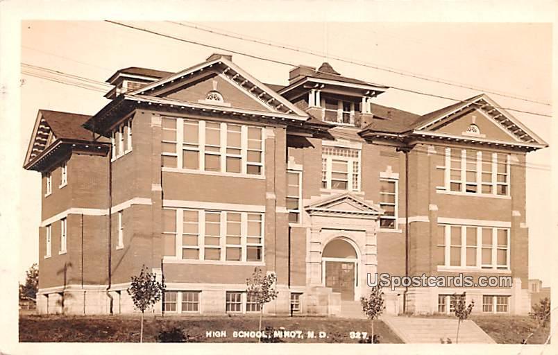 High School - Minot, North Dakota ND Postcard