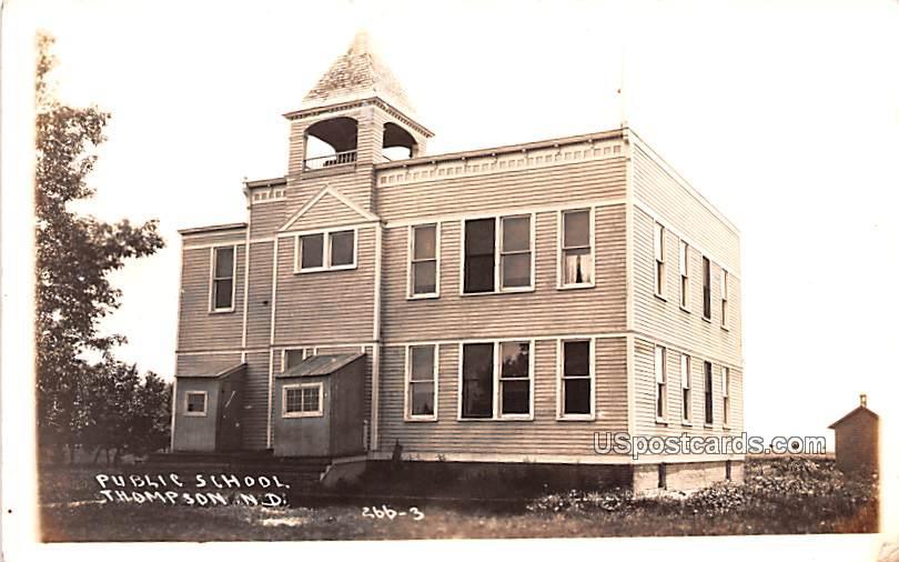 Public School - Thompson, North Dakota ND Postcard