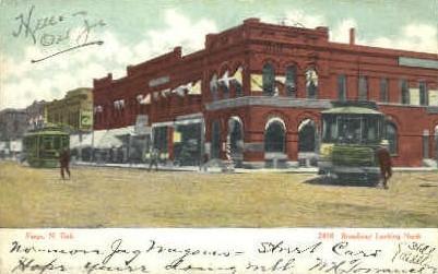Broadway - Fargo, North Dakota ND Postcard