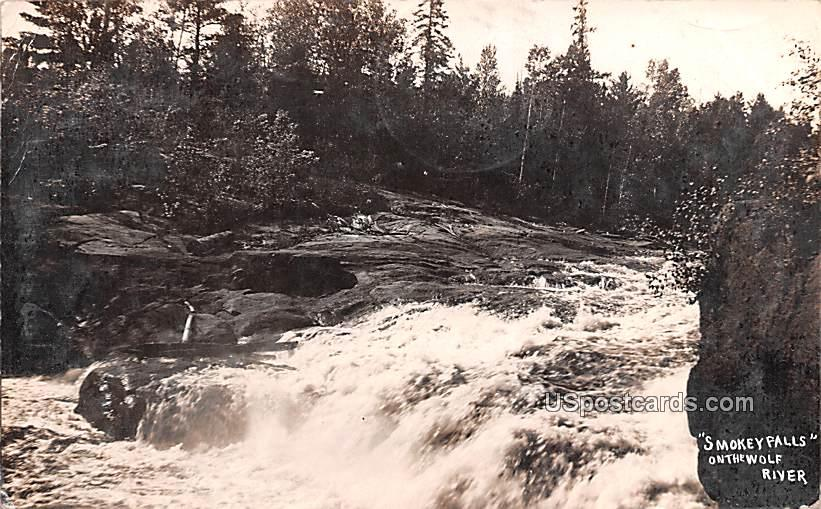 Smokey Falls - Wolf River, North Dakota ND Postcard