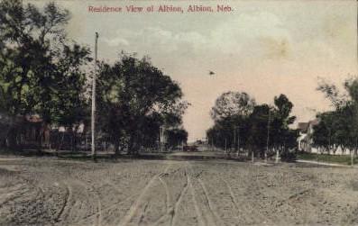 Residence View of Albion - Nebraska NE Postcard