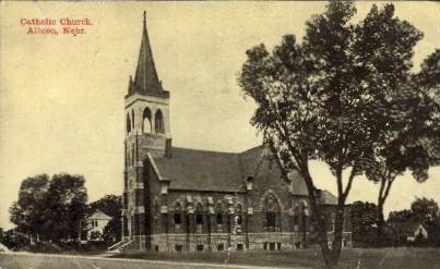 Catholic Church - Albion, Nebraska NE Postcard