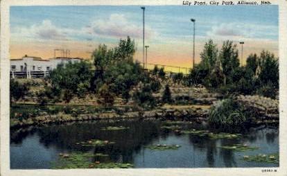 Lily Pond, City Park - Alliance, Nebraska NE Postcard
