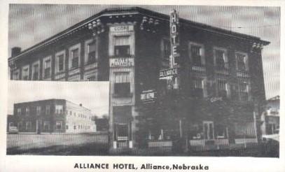 Alliance Hotel - Nebraska NE Postcard