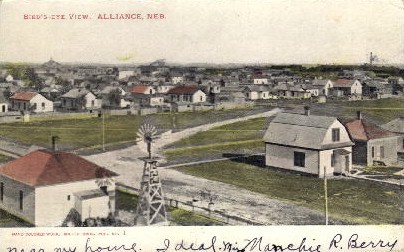Bird's Eye View of Alliance - Nebraska NE Postcard