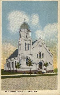 Holy Rosary Church - Alliance, Nebraska NE Postcard