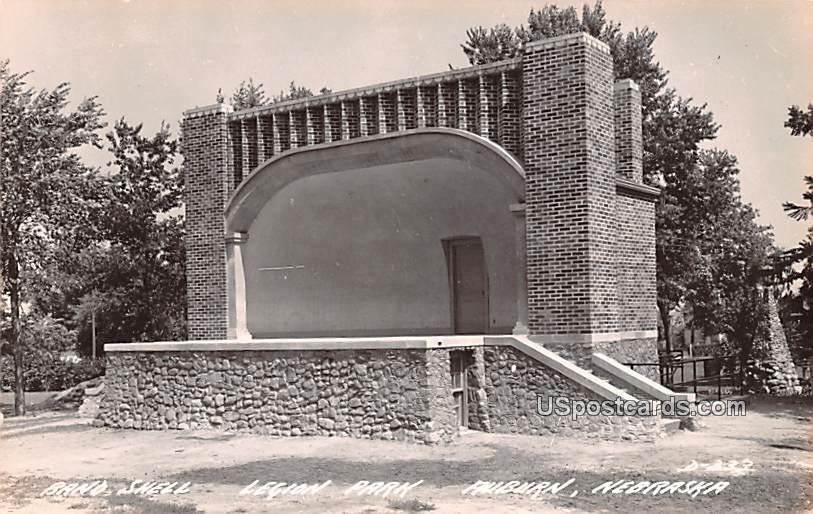 Band Shell - Auburn, Nebraska NE Postcard