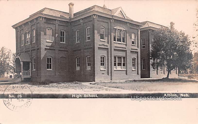 High School - Albion, Nebraska NE Postcard