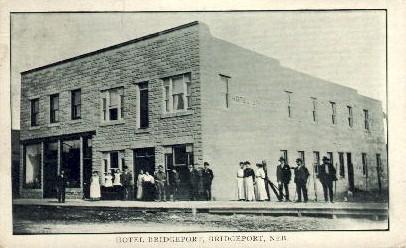 Hotel Bridgeport - Nebraska NE Postcard