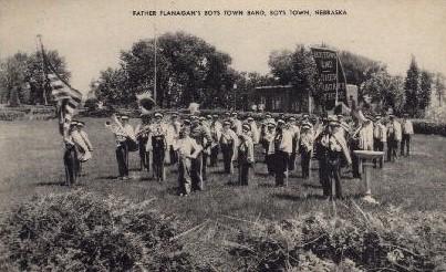 Father Flanagan's Boys Town Band - Nebraska NE Postcard