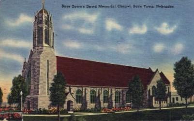 Dowd Memorial Chapel - Boys Town, Nebraska NE Postcard