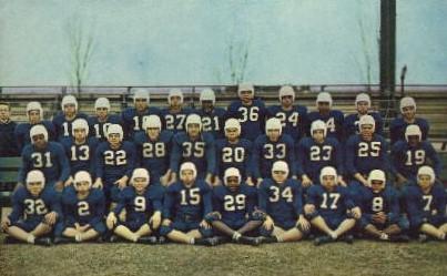 Football Team - Boys Town, Nebraska NE Postcard