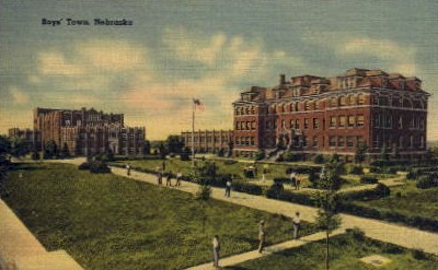 Boys' Town - Boys Town, Nebraska NE Postcard