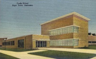 Trade School - Boys Town, Nebraska NE Postcard