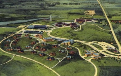 Air View of Boys Town - Nebraska NE Postcard