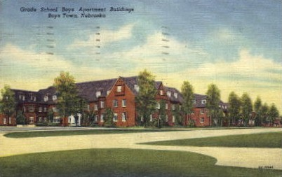 Grade School Boys Apartment Buildings - Boys Town, Nebraska NE Postcard