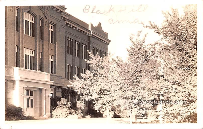 Building with Tree - Black Hills, Nebraska NE Postcard
