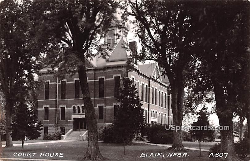 Court House - Blair, Nebraska NE Postcard