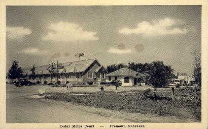 Cedar Motor Court - Fremont, Nebraska NE Postcard
