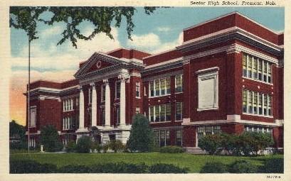 Senior High School - Fremont, Nebraska NE Postcard