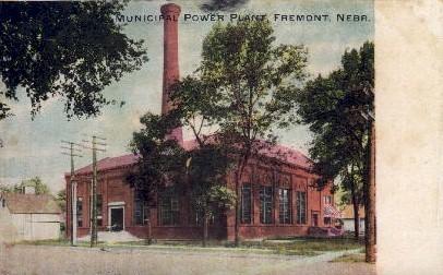 Municipal Power Plant - Fremont, Nebraska NE Postcard