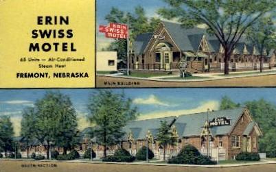 Erin Swiss Motel - Fremont, Nebraska NE Postcard