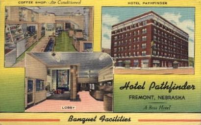 Hotel Pathfinder - Banquet Facilities - Fremont, Nebraska NE Postcard