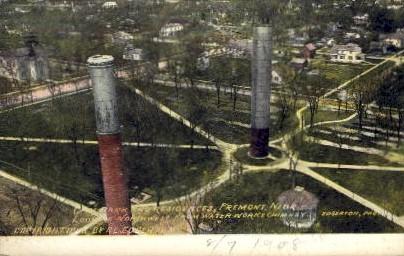 City Park and Residences - Fremont, Nebraska NE Postcard