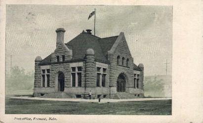 Post Office - Fremont, Nebraska NE Postcard