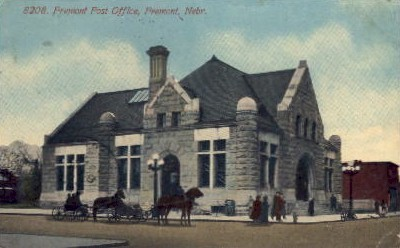 8208. Fremont Post Office - Nebraska NE Postcard