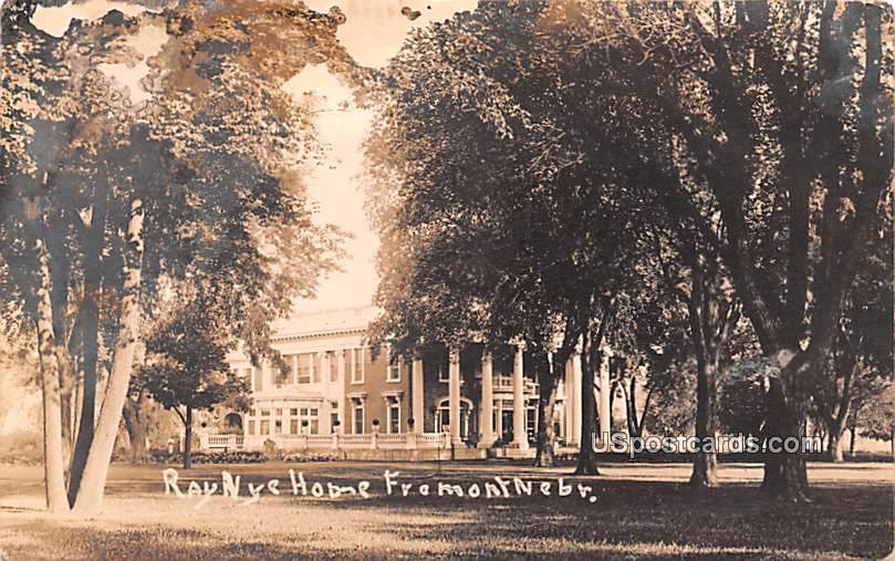 Ray Nye Home - Fremont, Nebraska NE Postcard