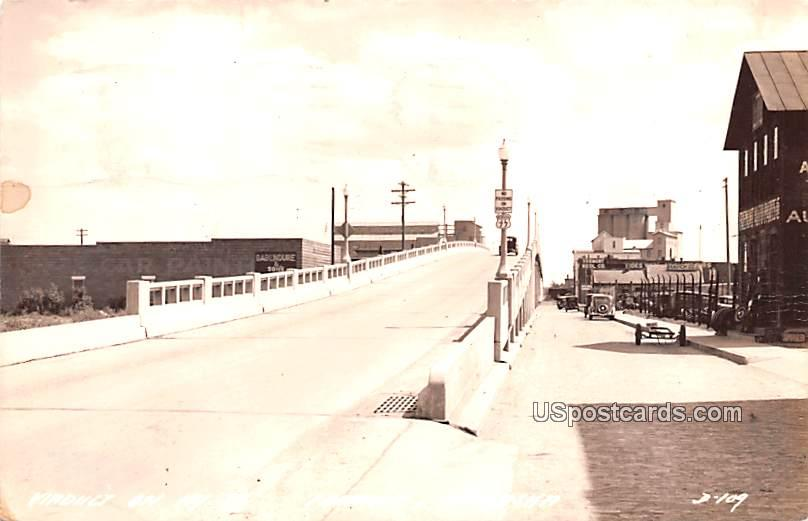 Viaduct on Highway 77 - Fremont, Nebraska NE Postcard
