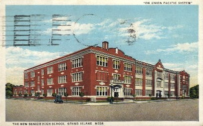 The New Senior High School - Grand Island, Nebraska NE Postcard