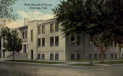 First Church of Christ - Hastings, Nebraska NE Postcard