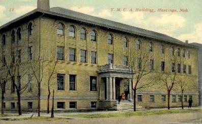Y.M.C.A Building - Hastings, Nebraska NE Postcard