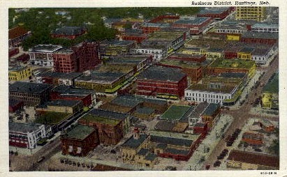 Business District - Hastings, Nebraska NE Postcard